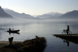 Kayak sur lac d'Annecy